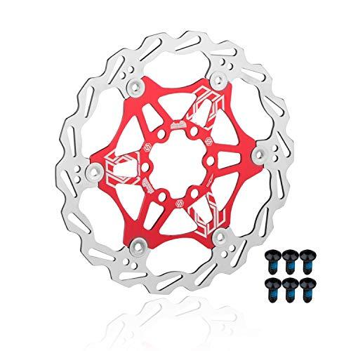 EASTERN POWER Bicicleta Freno Disco, Disco de Freno 160mm 6 Tornillos(Incluye), Flotante...