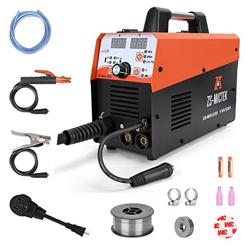 Mig Welder 125A 110/220V Welding Machine Gas/Gasless 3 in 1 Flux MIG/Solid Wire/Lift TIG/Stick Air Welding Machine Including Flux Core Wire Automatic Feed IGBT Inverter Welder. Buy it now for 265.99