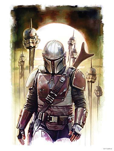 Komar Star Wars WB-SW-016-50 x 70 cm, décoration murale, affiche d'art avec motif mandalorian imaler | Taille 50 x 70 cm | Sans cadre | WB-SW-016-50 x 70, multicolore