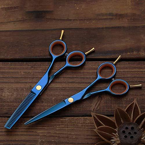 N/ A Ciseaux de Coiffure à Queue Double plaqués colorés, Ciseaux Plats + à Dents Ciseaux de Coiffure Professionnels
