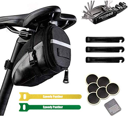 Speedy Panther Bike Underseat Bag Repair Kit Bag Bicycle Saddle Bag Seat Pack Bag Outdoor Bike...