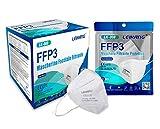 20 mascherine ffp3 certificate ce, mascherina 5 strati senza valvola, maschera facciale protezione da polvere e antiparticolato, face mask protettiva con alta efficienza di filtraggio bfe≥98, 20 pezzi