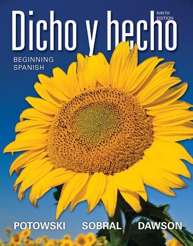 Dicho y hecho: Beginning Spanish (Spanish Edition)