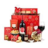 Thornton & France 'The Pippin' Christmas Hamper with Red Wine & Chocolates   Sweet & Savoury Treats To Share   9 Delicious Items