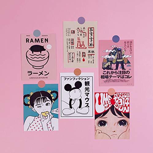 Japanse Retro Comic Book Stijl Oversized Sticker Kamer Muurdecoratie Sticker Hand Account Boek Kaart Postkaart Decoratie