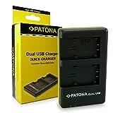 Patona LCD USB cargador 2x batería para Panasonic hc-v500m v100 v100m hc-v10