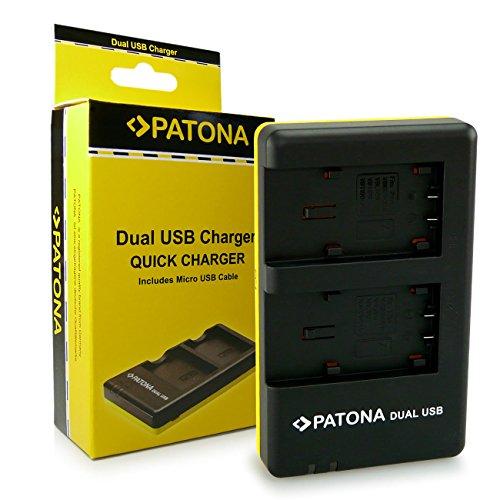 PATONA Dual Ladegerät für VBT190, VBT380 Akkus kompatibel mit Panasonic HC-VX870 HC-VX989 HC-VXF999 HC-W850EB HDC-H100