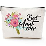 🎁 Aunt Gift, 🎁 Aunt Make Up Bag, Aunt Bag, Best Aunt ever, Aunt Cosmetic Bag, Gift for Aunt, Auntie Gift, New Aunt Gift, Funny Handle Bag,🏆 Prize for Aunt
