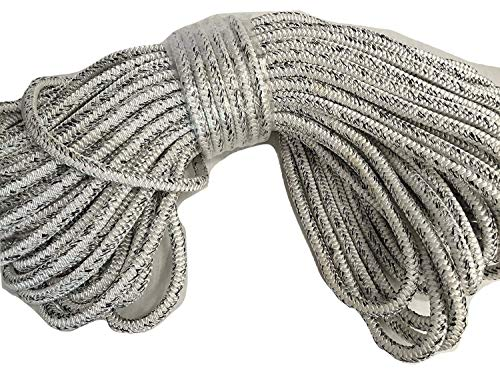 5/8 Inch by 200 Feet 12 Carrier, 24 Strand Polyester Arborist Rope, White and Black