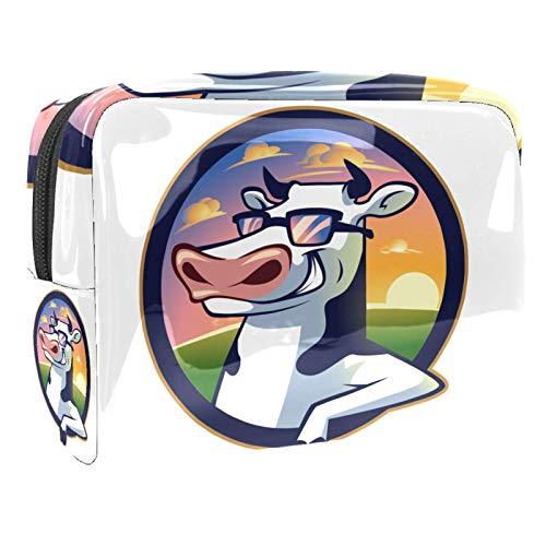 Borsa da bagno Bella mucca Beauty case per uomini donne bambini borsetta da viaggio idrorepellente Borsa da toilette per valigia bagagli a mano 18.5x7.5x13cm