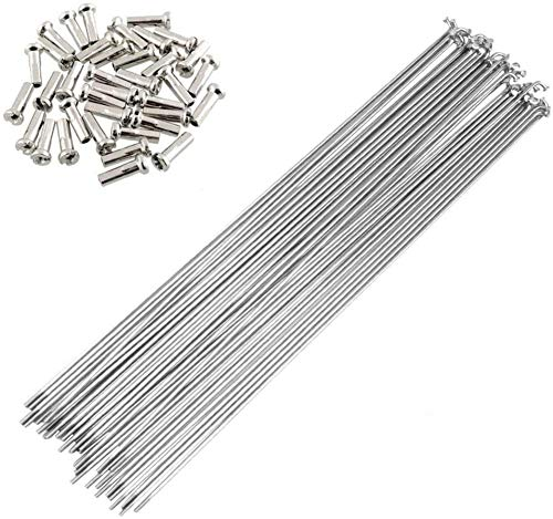 SENQI Bicycle Steel/Stainless Steel Spokes 80mm-297mm with Copper Cap 36pcs