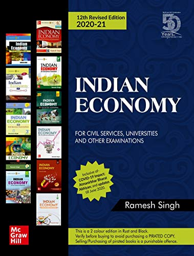 ndian Economy for Civil Services, Universities and Other Examinations by Ramesh Singh