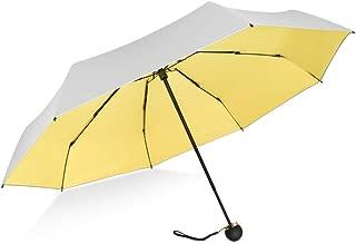 "8Ribs UPF50+ UV Blocker Parasol Mini Umbrella Windproof UV Protection Wind Resistant Lightweight Folding Sun-Rain Anti UV Umbrella 7.8"" Titanium Compact Vent Sun Umbrella"