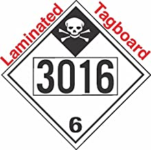 GC Labels-T335c3016, Inhalation Hazard Class 6.1 UN3016 Tagboard DOT Placard, Package of 50 Placards