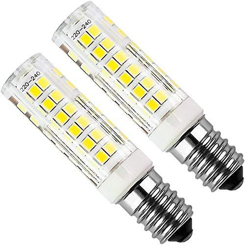 Kakanuo E14 LED Bulb 5Watt Equivalent 50W Cool White 6000K Cooker Hood 450Lumens AC220-230V Non Dimmable Small Edison Screw 75PCS 2835SMD (Pack of 2)