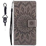 SsHhUu LG G3 S Case, Premium PU Leather Folio Wallet [Sun
