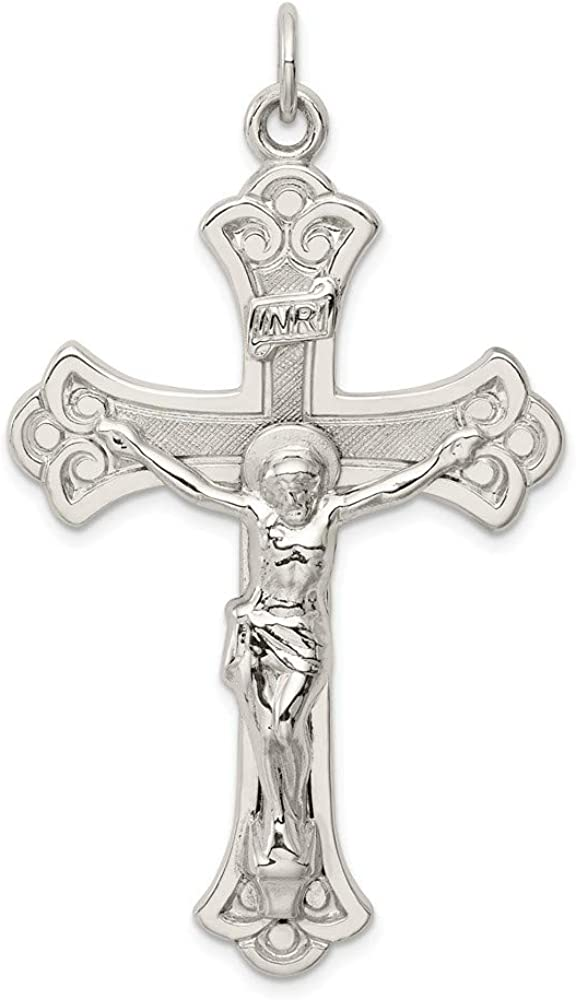 Quality inspection Sterling Silver Free shipping INRI Crucifix Pendant