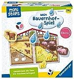 Ravensburger ministeps 4173 Unser Bauernhof-Spiel, Kinderspiel zum Farben lernen und Formen...