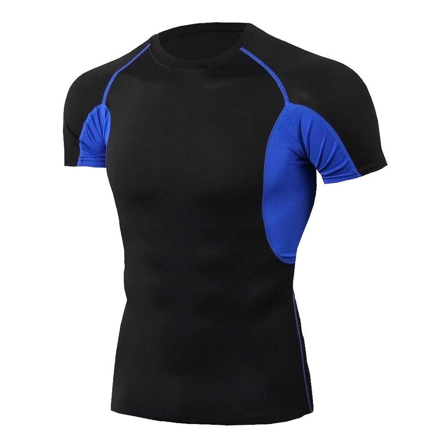 YAYUMI 2019 Men Workout Short Sleeve Fitness Sports Running Yoga Athletic Shirt Top Blouse