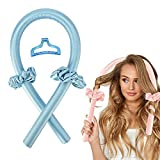 Ladies headless long hair curling iron, no hot wire curling iron, can sleep overnight, soft foam curling iron, curly hair band and soft natural hair curling (blue)