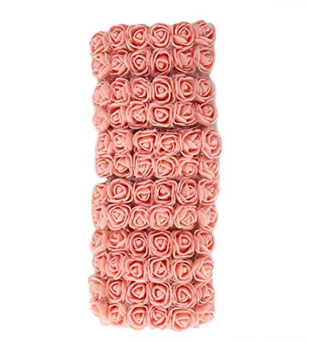 geshiglobal 72 Stück Künstliche Blumen Gefälschte Farbechte Schaumrosen Kopf DIY Hochzeitsfeier...