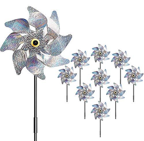 Comius Sharp Vogelabwehr, 10 PCS Windmühle Reflektor, Vogelschreck Reflektierende, Reflektierende Windmühle Vogelabwehr Anti-Vögel to Protect Garten, Obstgarten, Hof, Dach