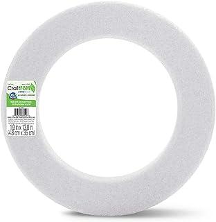 FloraCraft Styrofoam Wreath Form 1.8 Inch x 2.5 Inch x 14 Inch White