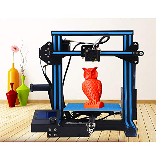 WUAZ Imprimante 3D Améliorée Qualité Full Precision DIY Imprimante 3D avec 1.75Mm ABS/PLA Filament (220 * La Taille 220 * 250Mm)