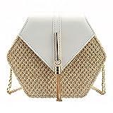 Bausweety Women's Crossbody Bag Cute Summer Straw Shoulder Bag