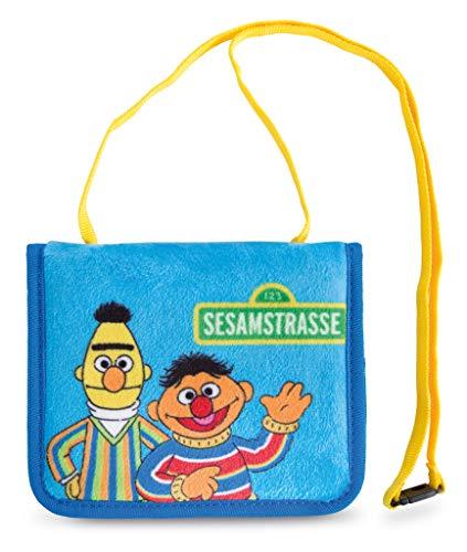 NICI 43516 Brustbeutel Ernie und Bert, Blau