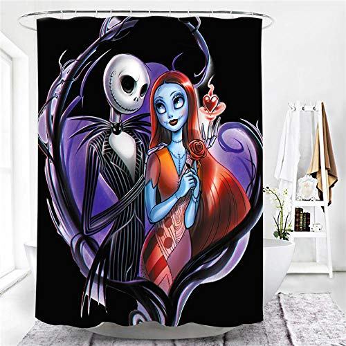 lxianghao Shower Curtain Tejido De Poliéster Halloween De Terror con Ganchos para Cortinas Cortinas Baño Antimoho 200 X 180 Cm