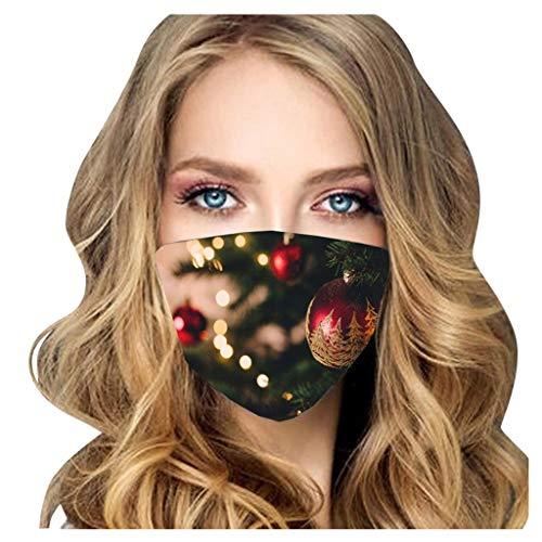 Lialbert - Pañuelo multifunción para adultos con impresión 3D de Navidad, transpirable, de algodón, lavable, protector de nariz B4. Talla única
