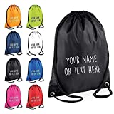 Personalised Drawstring Childrens Bag P.E Kit Boys Girls School College PE Kids