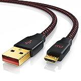 Primewire PW - Cavo Micro USB Universale da 1 Metro - ottimizzato per processi di Carica Rapida - contatti Dorati – Cavo in Nylon Intrecciato