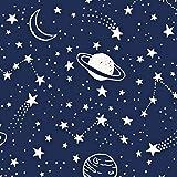 Pingianer 8,98€/m Planet Weltraum Mond 100% Baumwolle
