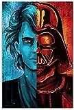 DINGDONG ART Leinwand Bilder 40x60cm Kein Rahmen Star Wars