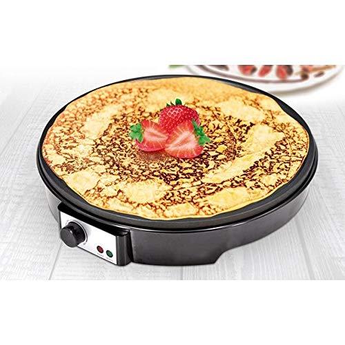 "Almineez 12"" Electric Crepe & Pancake Maker Machine Hot Plate Griddle – Nonstick - Delicious Breakfast Omelettes - Batter Spreader & Spatula - Tabletop Kitchen Desserts - 1000W"