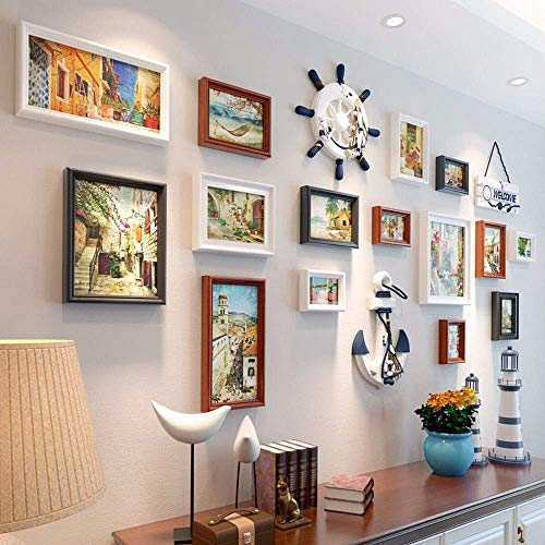 WTT creatieve woonkamer 3d muur stickers slaapkamer achtergrond muur decoratie muur fotolijsten,