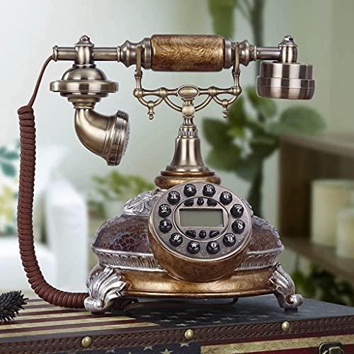 TAIDENG Teléfonos Decorativos Antiguos de Moda Inicio Oficina Retro Teléfono Creativo Europeo - Estilo Teléfono Inicio Avión Antiguo Beautify (Color : Glaze Color)