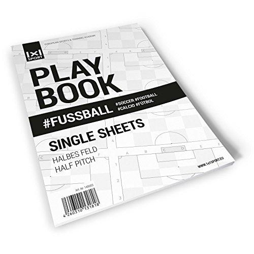 1x1SPORT Halbe Spielfelder Playbook #Fussball Single Sheets - Fußballblock