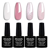 Allenbelle Smalto Semipermante Per Unghie Kit In Gel Uv Led Smalti Semipermanenti Per Unghie Nail Polish UV LED Gel Unghie (004)