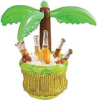 Palme hinchable con enfriador de bebidas, palma hinchable con enfriador, enfriador de vino y champán, para exteriores y fiestas de barbacoa, para adultos y niños de 24 pulgadas