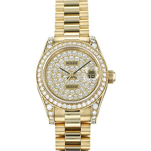 ロレックス ROLEX デイトジャスト 179158ZE 全面ダイヤ文字盤 中古 腕時計 レディース (W183213) [並行輸入品]