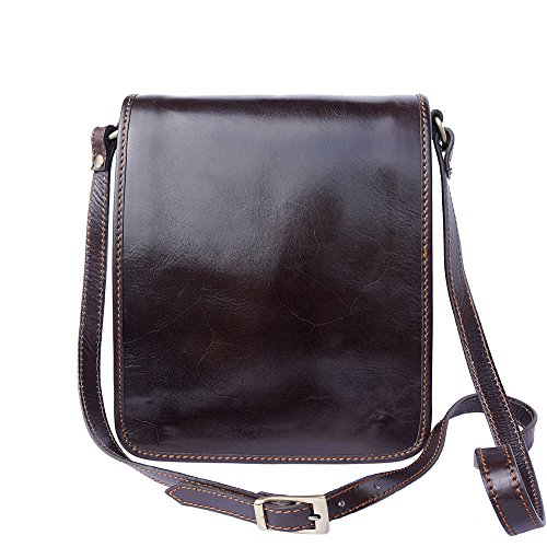 Florence Leather Market Bolsa con correa para el hombro 6515 (Marròn oscuro)