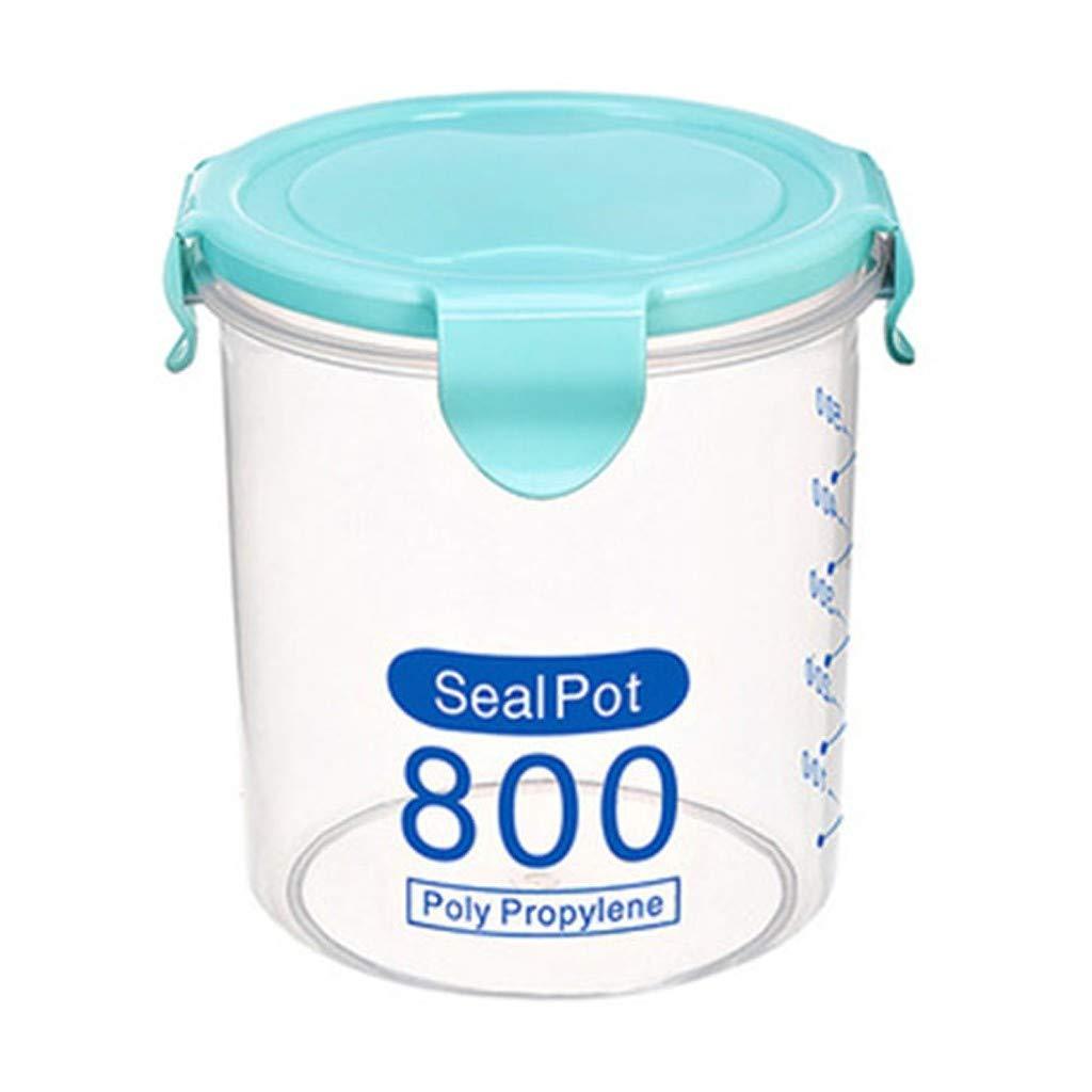 Katpost - Caja hermética para Alimentos, contenedores de Cereales de plástico Transparente, Etiquetas y rotuladores, para Cereales, harina, café, etc.: Amazon.es: Hogar