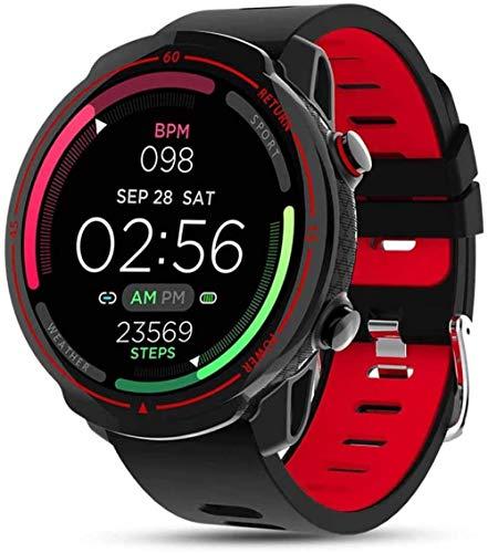 Sport Tracker Smart Watch 1.3 pantalla completa con monitor de frecuencia cardíaca, resistente al agua IP68, compatible con Android 4.4 y superior, iOS 7.1 y superiores.
