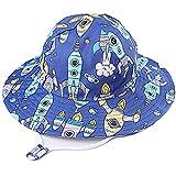 Taidor Sonnenhut für Kinder, niedlicher Druck, Strandhut mit verstellbarem Kinnriemen für Kinder Gr. 6-12 Monate, Rocket Blue