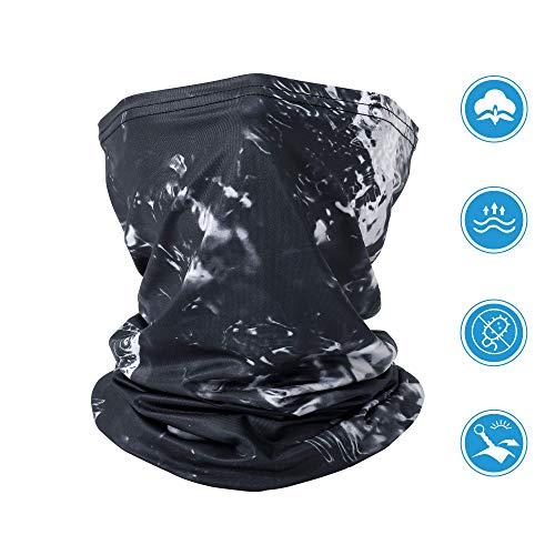 GRDE Multifunktionstuch Herren Damen Atmungsaktiv Weich Schlauchschal Halstuch Super elastisch kühl Sonnenschutz Verschleißfest Bandanal Sturmhaube für Motorrad Laufen Wandern (schwarz)