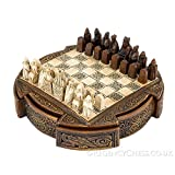 National Museum Scotland Isle of Lewis Compact Celtic Chess Set 9 Inches