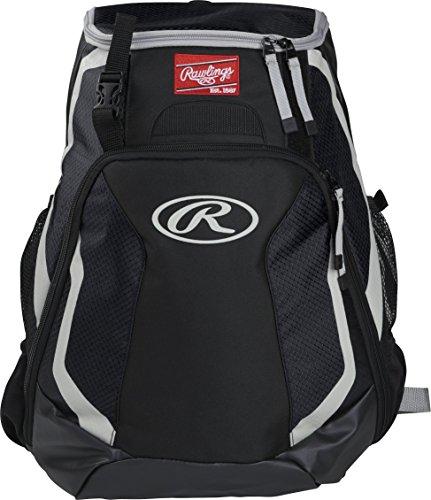 Rawlings R500 Series Baseball/Softball Backpack, Black